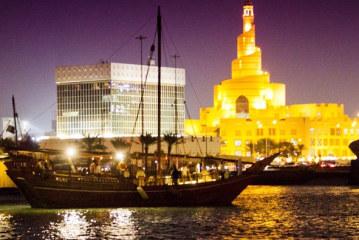 Doha akşamları yelkenlilerle daha güzel