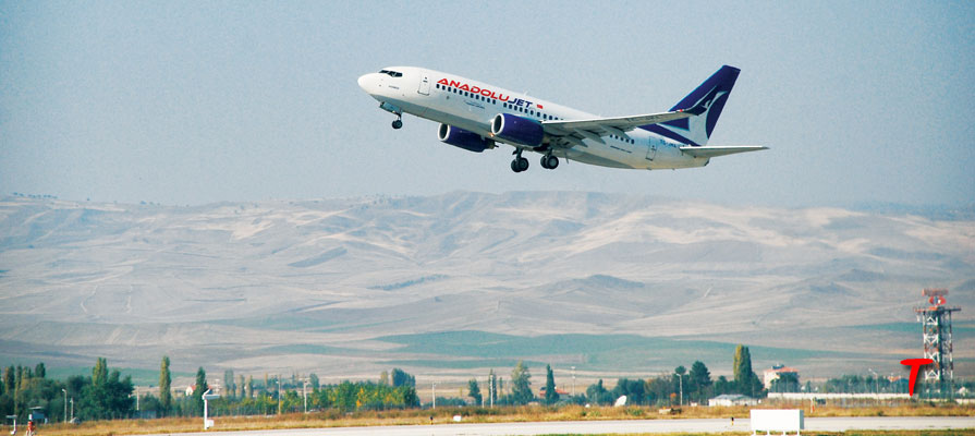 anadolujet aircraft take off