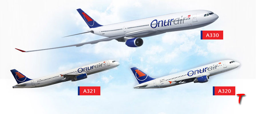 onur air aircraft fleet